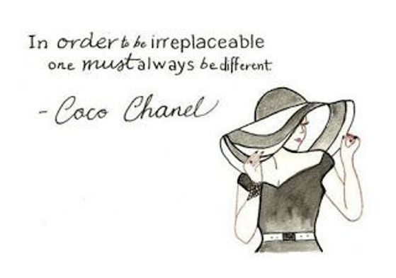 Coco Chanel says