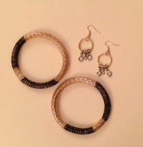 DIY bracelet and earrings