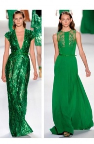 Fall 2013 Emerald green dresses