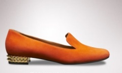 Fendi Orange Loafer