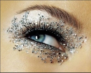Blinged out eye makeup
