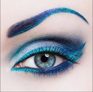 Blue and Teal Eye makeup