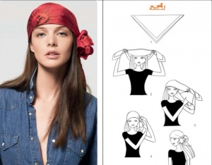DIY head scarf