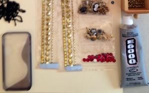 DIY phone case supplies