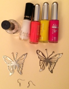 Painted butterfly supplies