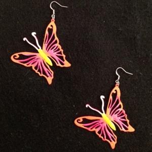 Painted Butterfly Earrings
