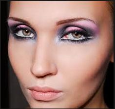 Pink and Black Smoky Eye Makeup