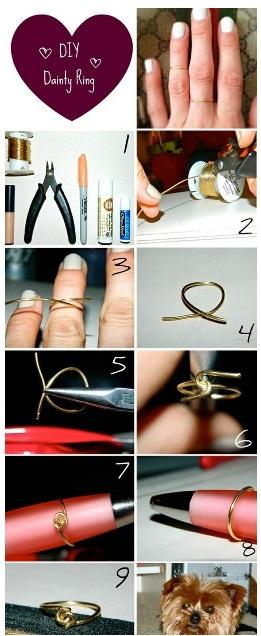 DIY Dainty Ring