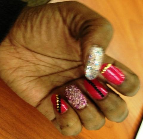 NOTD - caviar, beads and stones